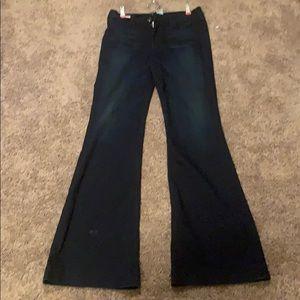 True Religion dark wash flair jeans size 30